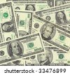 Close up of United States (USA) Currency background - stock photo
