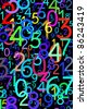 Colorful numbers. Use for background or texture - stock photo