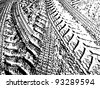 cross auto track - stock photo