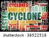 Cyclone Natural Disaster as a Art Background - stock photo
