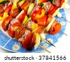 delicious skewers - stock photo