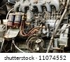 Engine details. Diesel engine. Motor truck - stock photo
