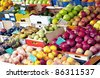 Fresh fruit at a market - stock photo