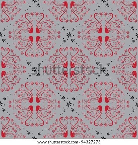 Abstract seamless pattern with colorful floral. Vector illustration on ...