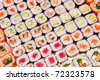 Japanese sushi , traditional japanese food - stock photo