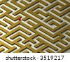 Lost in the Labyrinth. Maze. 3D image. - stock photo
