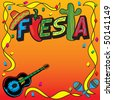 Mexican Fiesta Party Invitation with room for your type - stock photo