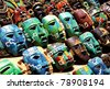 Mexico Souvenir masks - stock photo