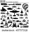 Modes of transportation graphic collection individually layered - stock photo