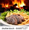 oven steak - stock photo