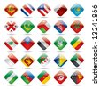 Raster version of vector set world flag icons 4 - stock photo