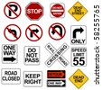 Road Sign Set - stock photo