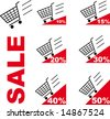 Sale Shopping cart - stock photo