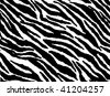 Seamless animal pattern skin fur vector zebra - Vector version available in my portfolio - stock photo