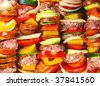 skewers background - stock photo