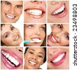 smiles and teeth - stock photo