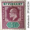 ST VINCENT AND THE GRENADINES - CIRCA 1908: A stamp printed in St Vincent and the Grenandines shows image of King Edward VII, series, circa 1908 - stock photo