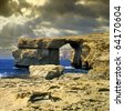 The Azure Window in Gozo, Malta - stock photo