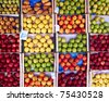 variety of apples and pears - stock photo