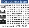100 business icons. vector - stock vector