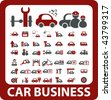 40 car business signs. vector - stock vector