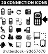 20 connection icons. vector - stock vector