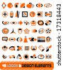 49 logos & deisgn elements vector illustration - stock vector