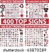 400 top signs. vector - stock vector