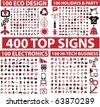 фондовый вектор: 400 топ знаков.  вектор