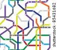 Абстрактный цветной бесшовный узор - схема метро.