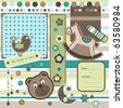 Baby scrapbook elements, vector - stock vector