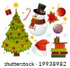 Christmas set of different stuff - stock vector