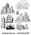 City Doodles - stock vector