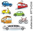 City Transport icons Set - stock vector