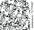 Classic decorative seamless vector black-and-white texture - stock vector