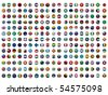 Collection of All The Flags of the Earth Vector - stock vector