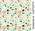 cute cartoon pattern seamless - stock vector