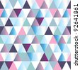 diamonds seamless triangle abstract pattern. Vector illustration - stock vector