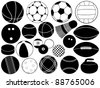 Different game balls - stock vector