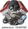 ENGINE of INTERNAL COMBUSTION FRONTAL - stock vector
