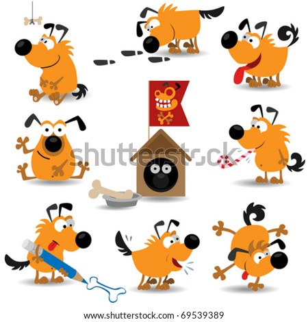stock-vector-funny-dogs-set-vector-illustration-for-web-design ...