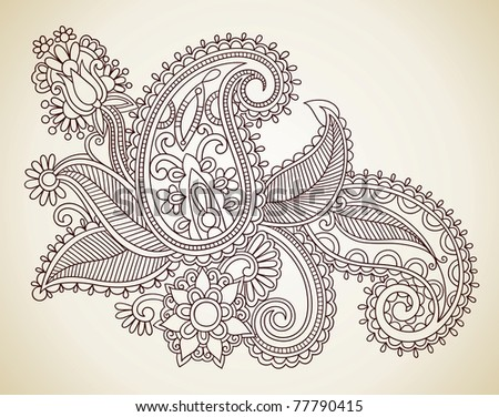Easy Abstract Doodles Hand drawn Henna