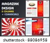 Magazine layout with commercials - stock vector