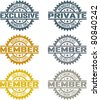 Membership Stamps - stock vector