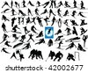 mix winter sport collection - vector - stock vector