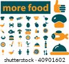 more food signs. vector - stock vector