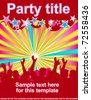 party flyer with dancing peoples - stock vector