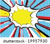 Pop art or comic book style explosion - stock vector