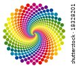 Rainbow vortex vector background. - stock vector