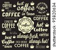 Retro Coffee Badges and Labels Collection. For High Quality Graphic Projects. - stock vector